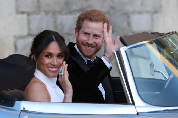 Meghan Markle e príncipe Harry deixam o Castelo de Windsor