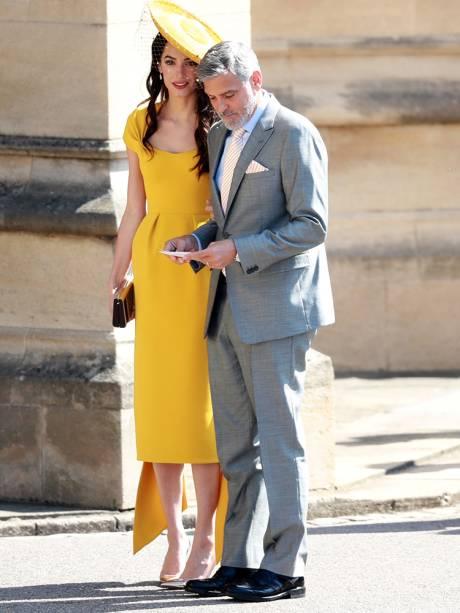 O ator George Clooney e a esposa Amal Clooney chegam em Windsor para acompanhar o casamento do príncipe Harry com a atriz Meghan Markle - 19/05/2018