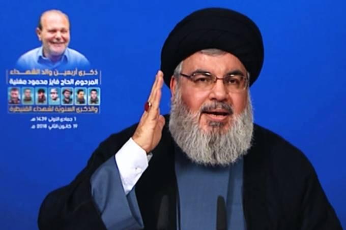 O líder do Hezbollah, Hassan Nasrallah