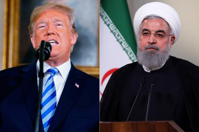 Donald Trump e Hassan Rouhani