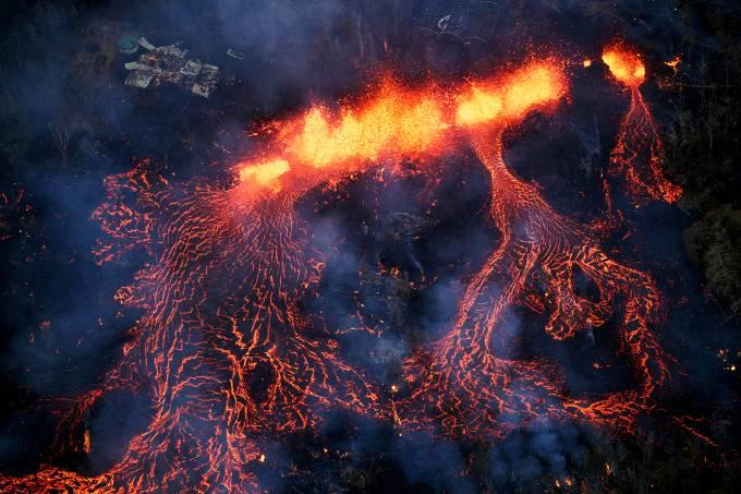 Vulcão Kilauea, no Havaí