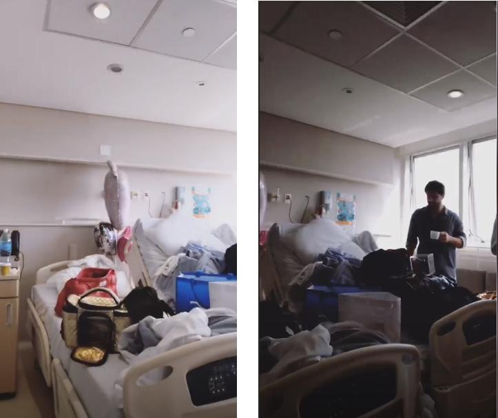 Sabrina Sato mostra bagunça em quarto de hospital