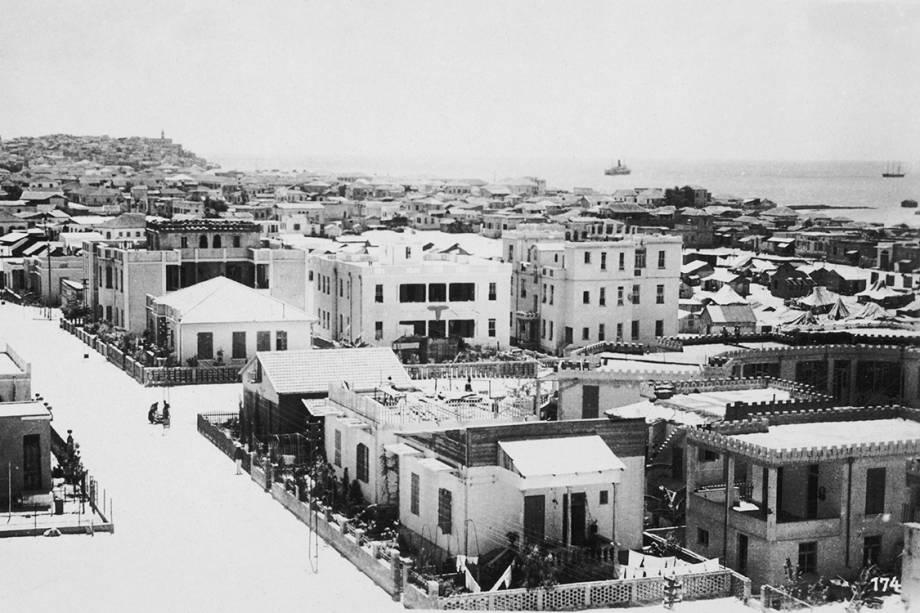 Vista geral da cidade de Tel Aviv - 1929