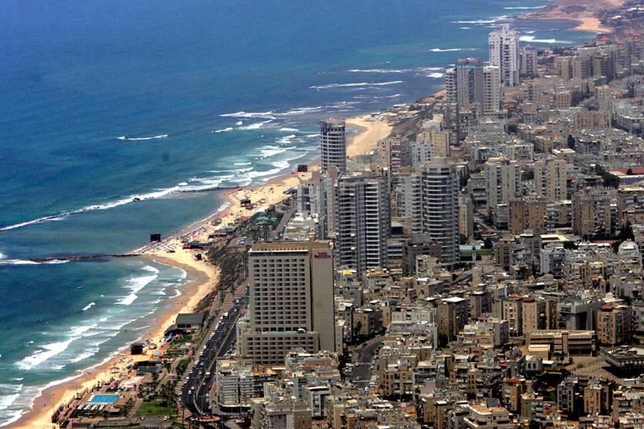 Vista geral da cidade de Tel Aviv - 29/05/2006