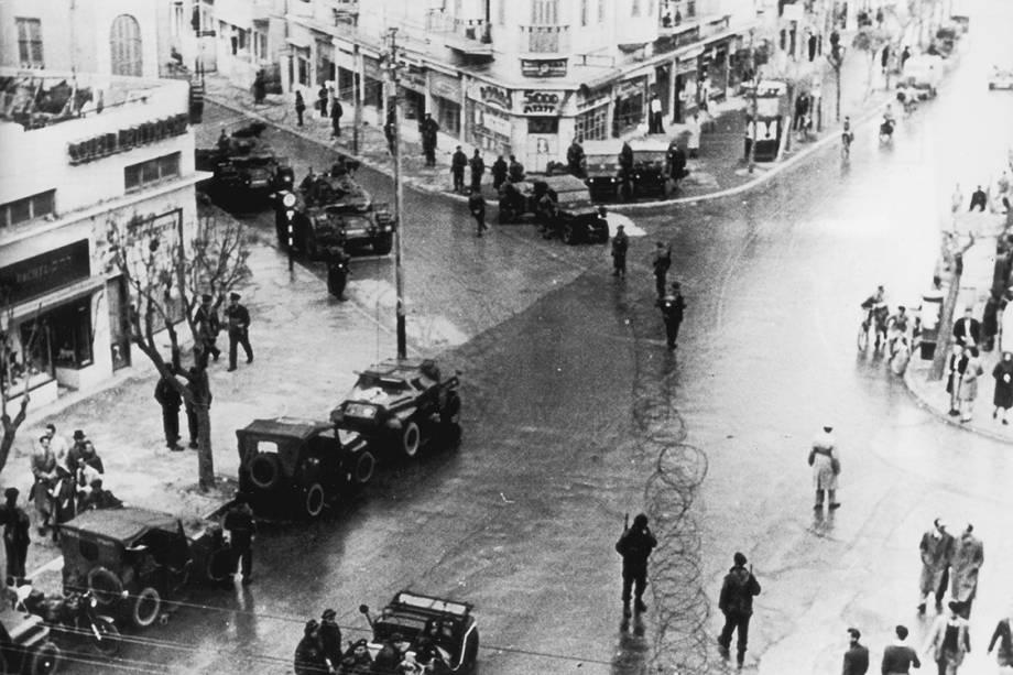 Avenida em Tel Aviv - 03/01/1947
