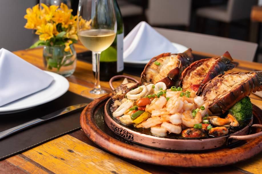 Chapa de frutos do mar: um dos mais pedidos