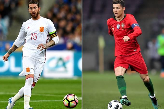 Sérgio Ramos e Cristiano Ronaldo