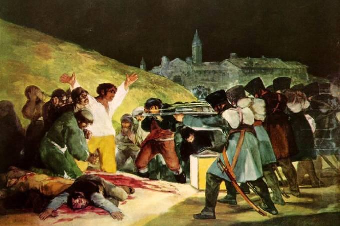 Três de maio de 1808 em Madri (1814), do pintor espanhol Francisco Goya (1746-1828)
