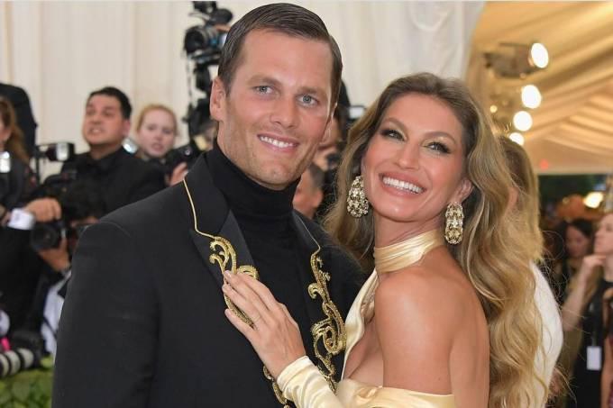 Gisele Bündchen e Tom Brady no MET Gala 2018