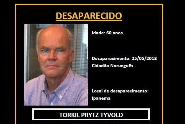 Polícia do Rio investiga desaparecimento do executivo norueguês Torkil Prytz Tyvold
