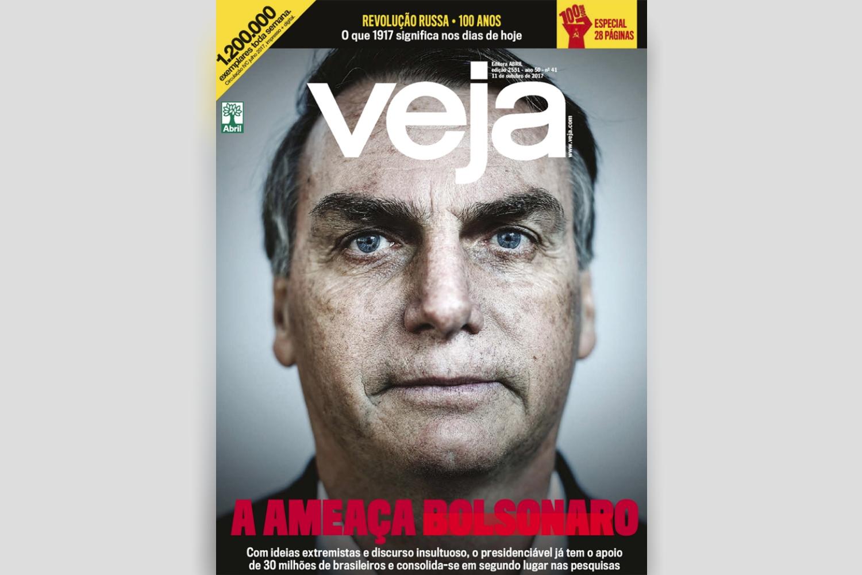 Jair Bolsonaro estampa a capa de VEJA de 11 de outubro de 2017