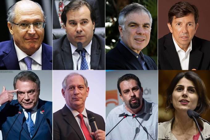 Os pré-candidatos à Presidência da República