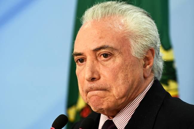 O presidente da República, Michel Temer, realiza pronunciamento para anunciar a indicação de Ivan Monteiro para assumir a presidência da Petrobras, após a demissão de Pedro Parente - 01/06/2018