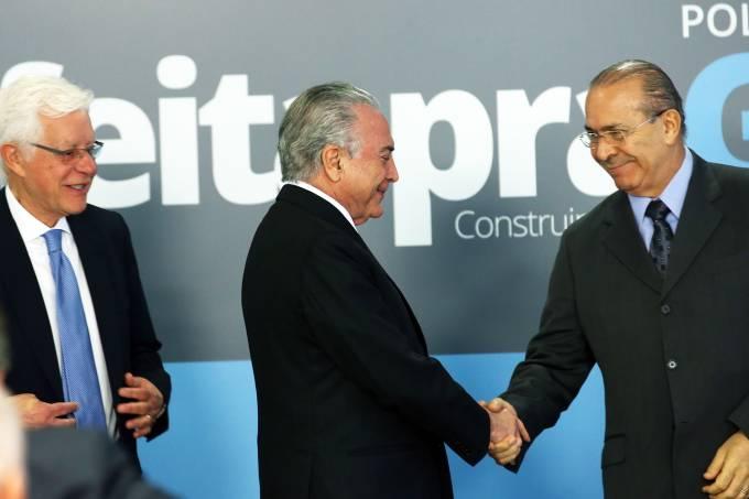 Michel Temer, Eliseu Padilha e Moreira Franco