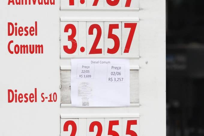 Queda do valor do diesel nos postos de combustíveis