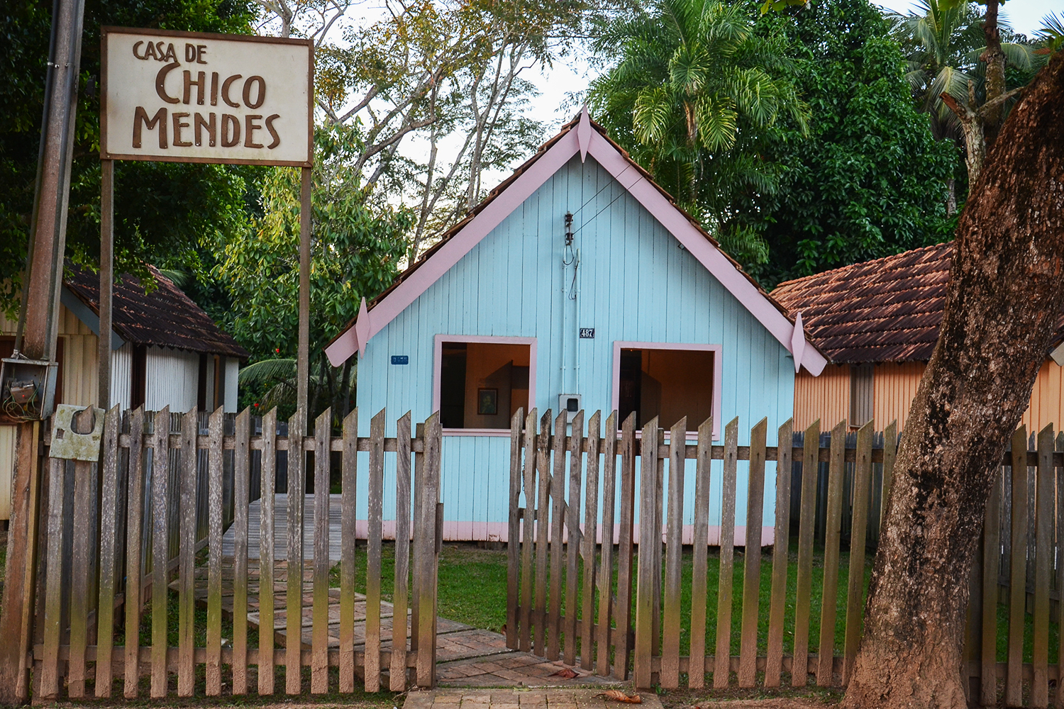 Casa onde Chico Mendes foi assassinado, em Xapuri, no Acre