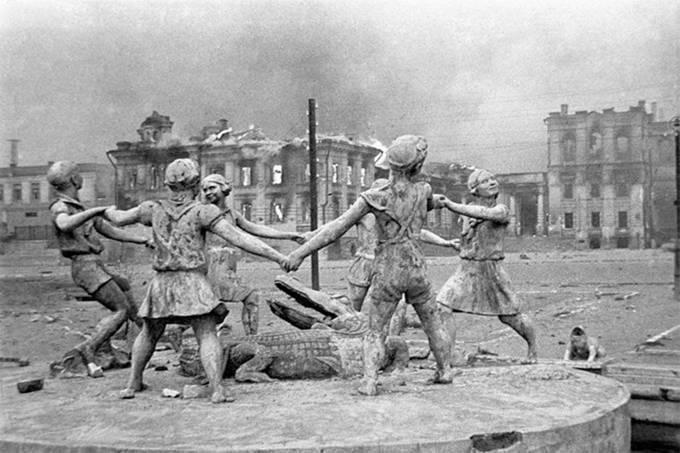 Chafariz em Staliningrado, atual Volgogrado