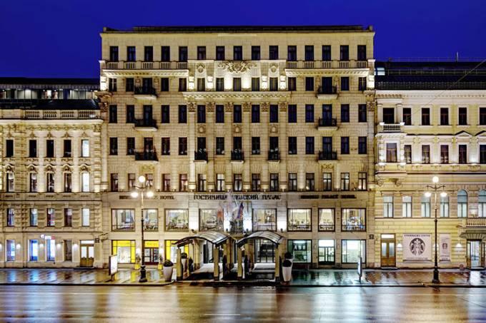 Fachada do Corinthia Hotel, em São Petersburgo