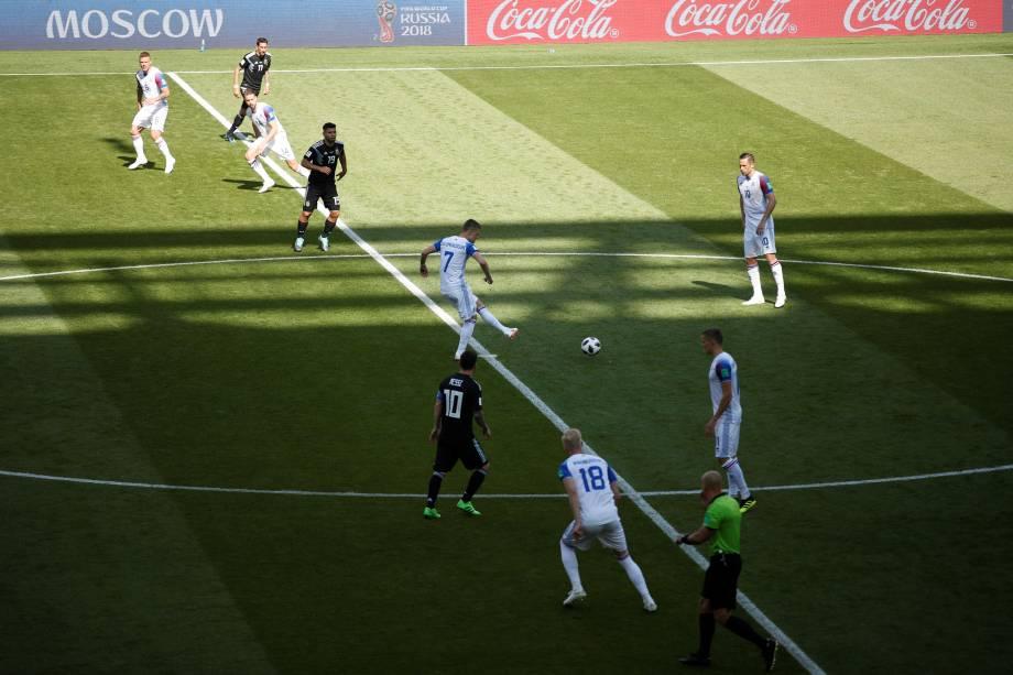 Argentina e Islândia estreiam pelo grupo D da Copa do Mundo da Rússia no estádio Spartak, em Moscou - 16/06/2018