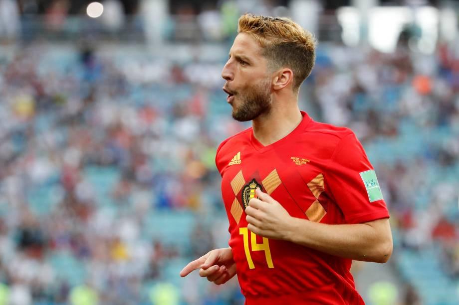Dries Mertens, autor do gol da Bélgica na partida contra o Panamá, em Sochi - 18/06/2018