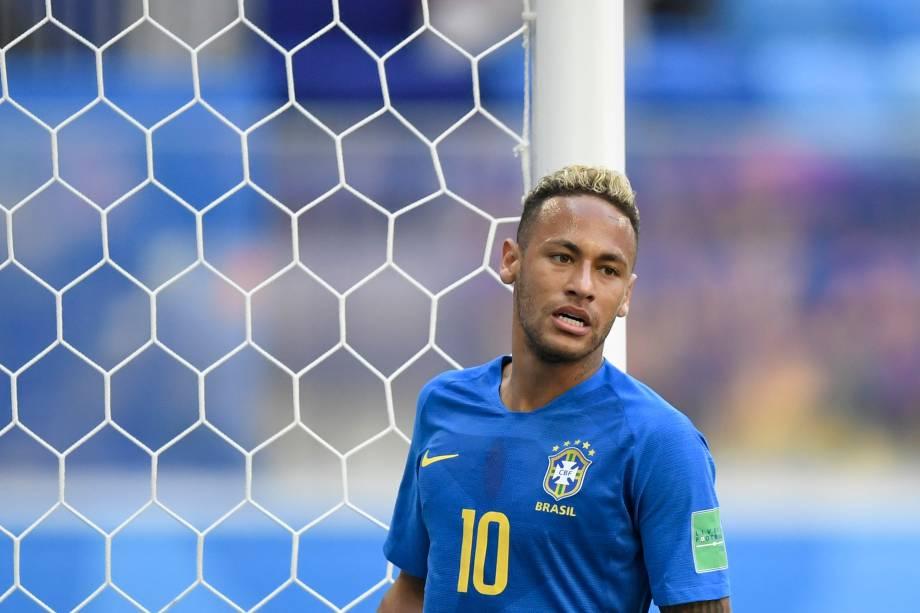 Neymar durante partida contra a Costa Rica, válida pelo grupo E da Copa do Mundo no estádio São Petesburgo - 22/06/2018