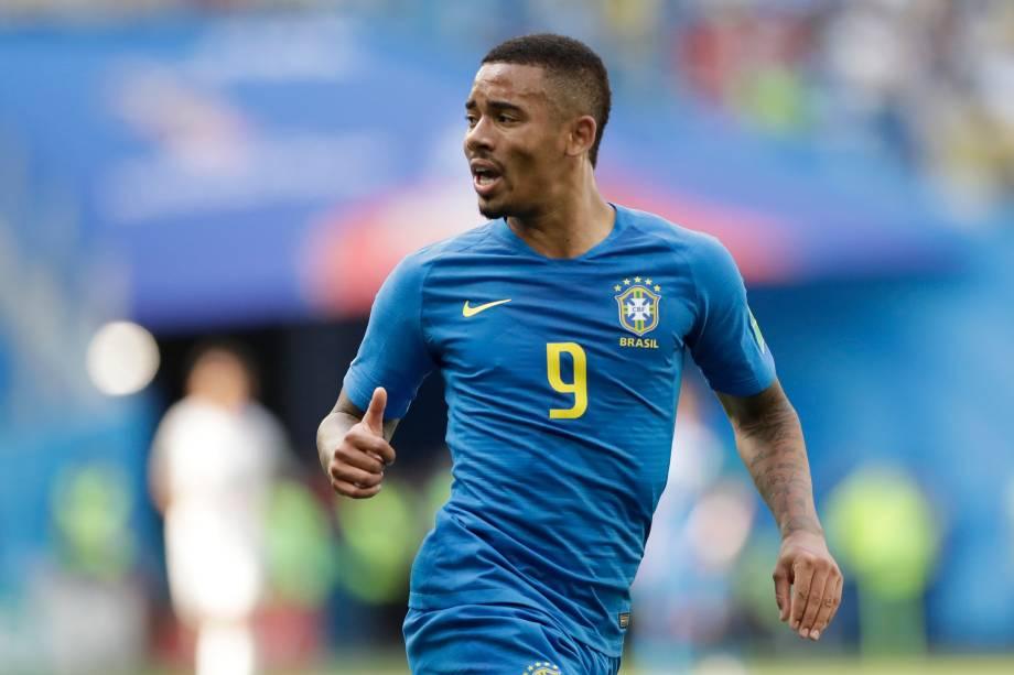 O atacante brasileiro Gabriel Jesus durante a partida da Copa do Mundo 2018 contra a Costa Rica - 22/06/2018