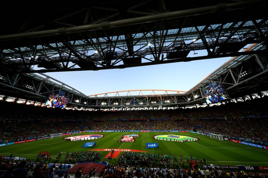 Vista geral do estádio Spartak, que recebe a partida entre Brasil e Sérvia, válida pela terceira rodada do grupo E - 27/06/2018