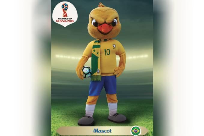 Canarinho Pistola em encarte do álbum da Copa do Mundo