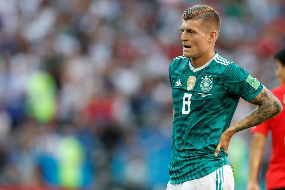 Toni Kross, da Alemanha, reage durante a partida contra a Coréia do Sul na Arena Kazan - 27/06/2018