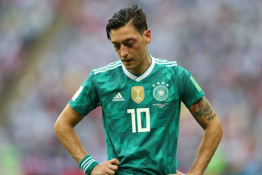Mesut Oezil da Alemanha reage a derrota em partida contra a Coreia do Sul - 27/06/2018