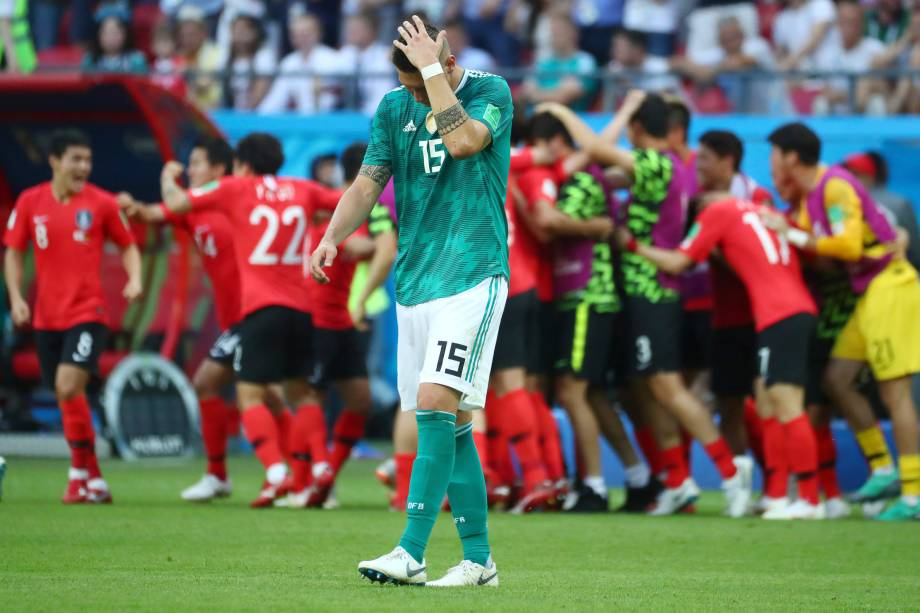 Niklas Sule da Alemanha reage após Kim Young-gwon da Coreia do Sul marcar gol - 27/06/2018