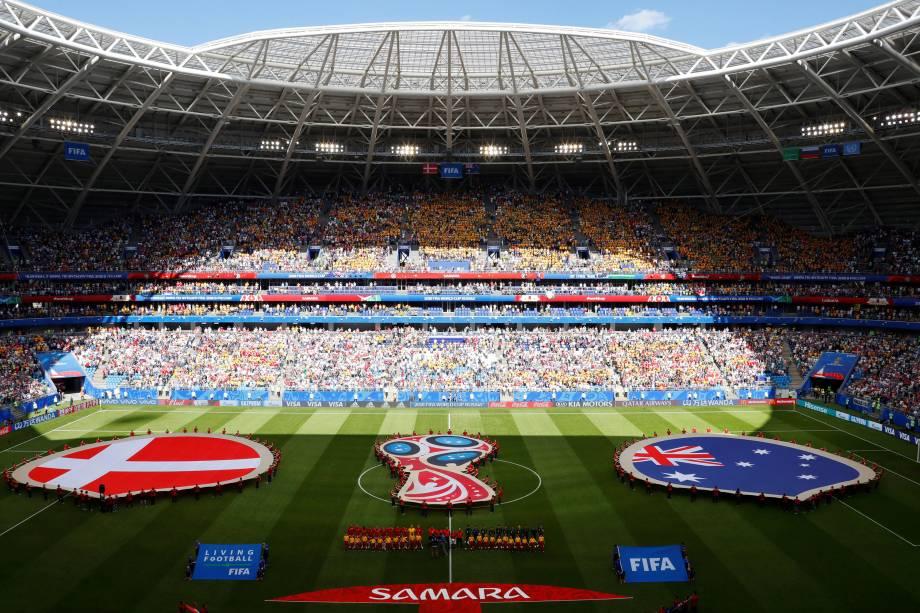 Dinamarca e Austrália se enfrentam pelo grupo C da Copa do Mundo na arena Samara - 21/06/2018