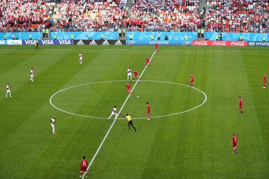 Peru e Dinamarca estreiam na Copa do Mundo da Rússai na arena Mordovia em Saransk - 16/06/2018