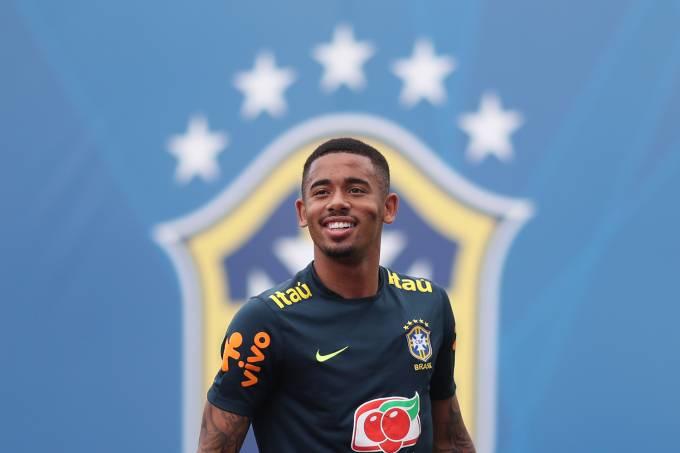Treino da Seleção Brasileira – Gabriel Jesus