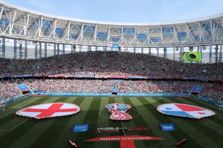 Inglaterra e Panamá se enfrentam na arena Níjni Novgorod