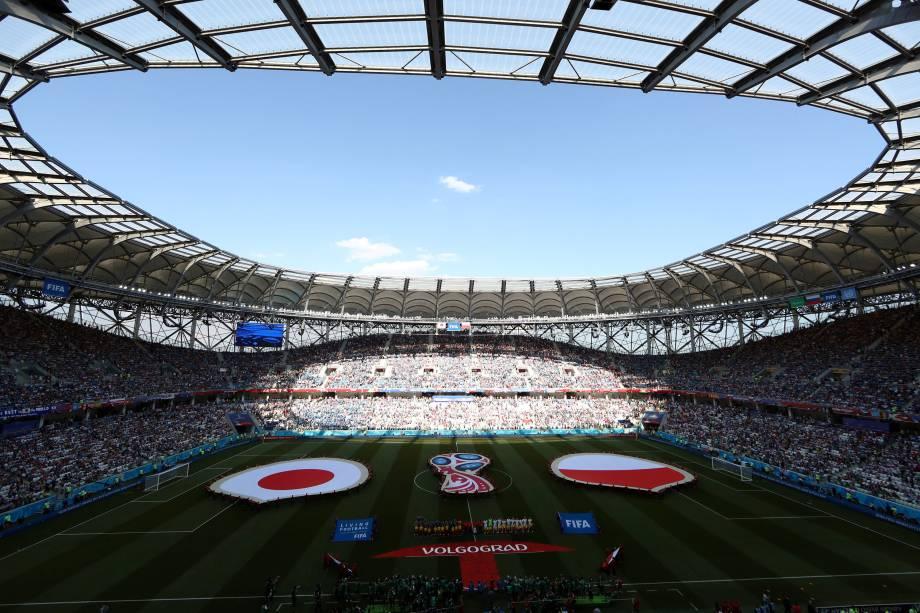 Japão e Polônia se enfrentam em partida válida pela terceira rodada do grupo H, na Arena Volgogrado - 28/06/2018