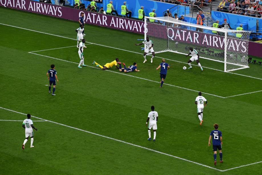 Keisuke Honda marca o segundo gol do Japão, para empatar a partida contra o Senegal, na Arena Ecaterimburgo - 24/06/2018