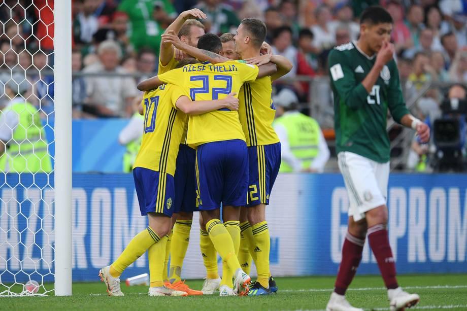 Suécia comemora terceiro col em partida contra o México na Arena Ecaterimburgo - 27/06/2018