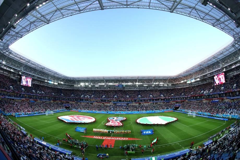 Croácia e Nigéria estreiam na Copa do Mundo Rússia 2018 pelo Grupo D, no estádio de Kaliningrad