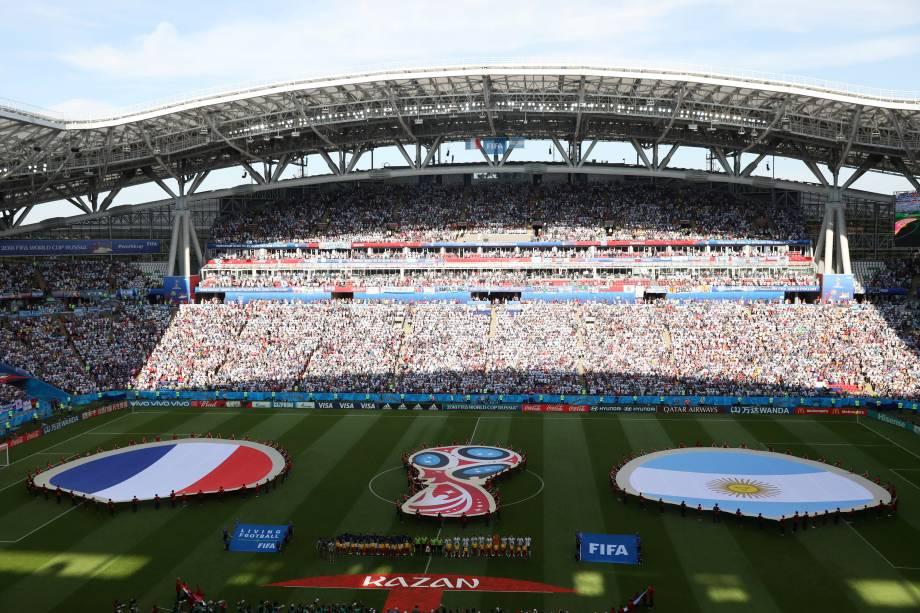 França e Argentina se enfrentam pelas oitavas de final da Copa do Mundo na arena Kazan - 30/06/2018