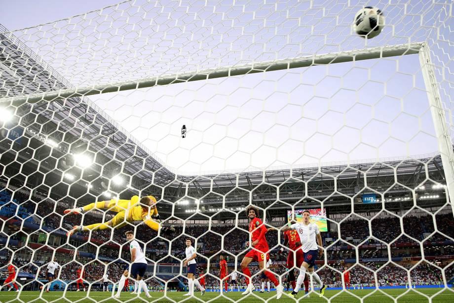 Adnan Januzaj abre o placar para a Bélgica na partida contra a Inglaterra, válida pela terceira rodada do grupo G, no estádio Kaliningrado - 28/06/2018