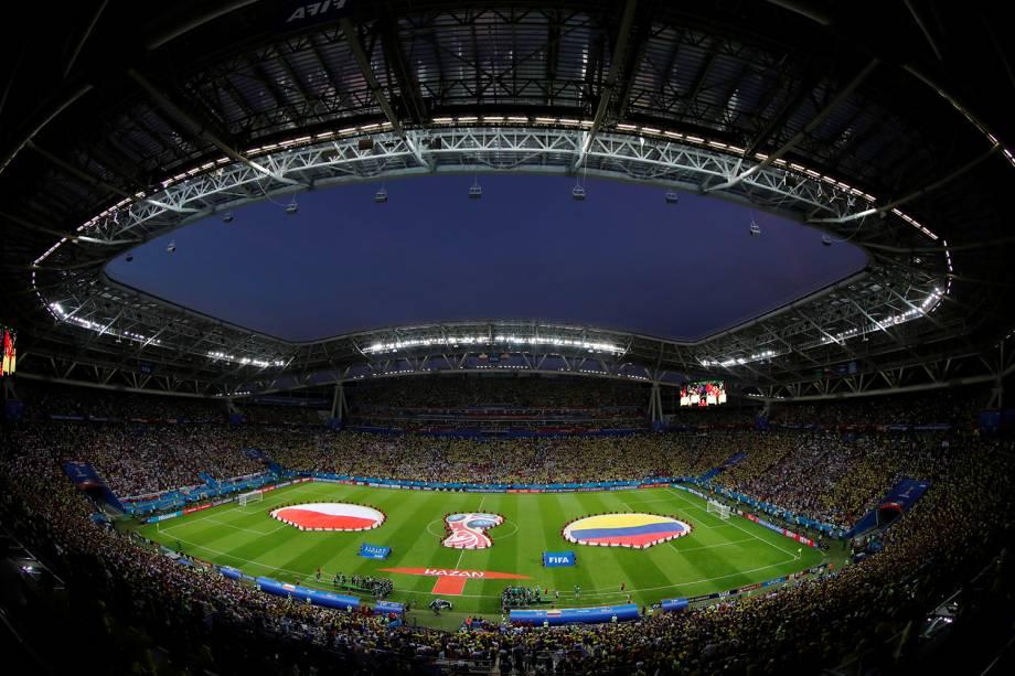 Arena Kazan sedia a partida entre Polônia e Colômbia pela segunda fase do grupo H - 24/06/2018