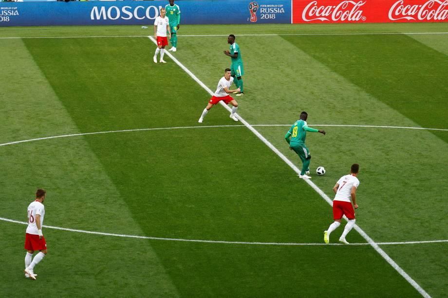 Começa a última partida da primeira rodada da Copa do Mundo Rússia no estádio Spartak, entre Polônia e Senegal pelo Grupo H