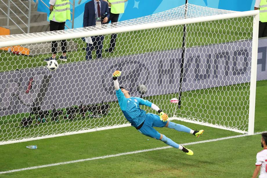 Ricardo Quaresma faz o primeiro gol de Portugal durante partida contra o Irã - 25/06/2018