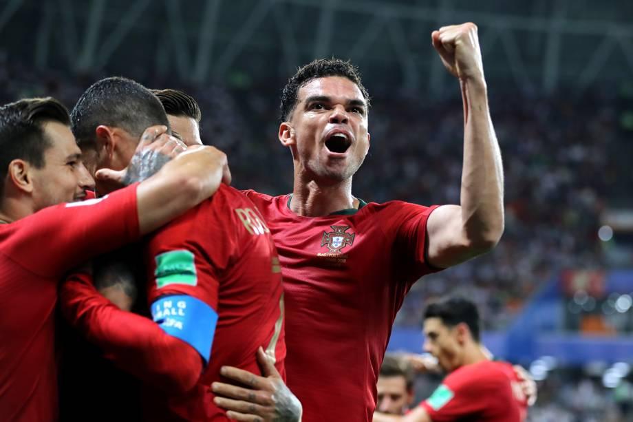 Ricardo Quaresma comemora após abrir o placar para Portugal, em partida válida pela terceira rodada do grupo B da Copa do Mundo - 25/06/2018