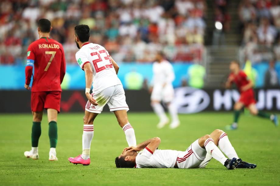 Partida entre Irã e Portugal, válida pelo grupo B da Copa do Mundo - 25/06/2018