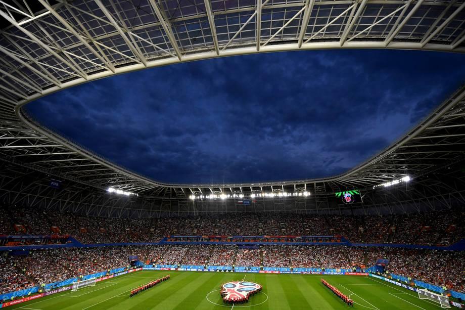 Vista geral da Arena Mordovia, que recebe o confronto entre Irã e Portugal, pela terceira rodada do grupo B - 25/06/2018