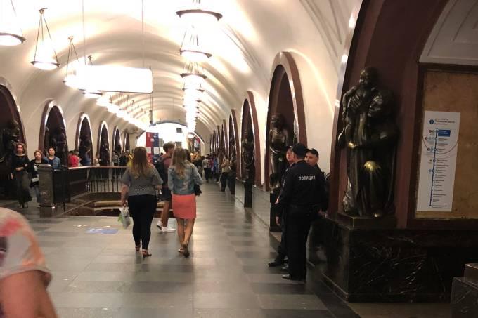 Estação de metrô em Moscou
