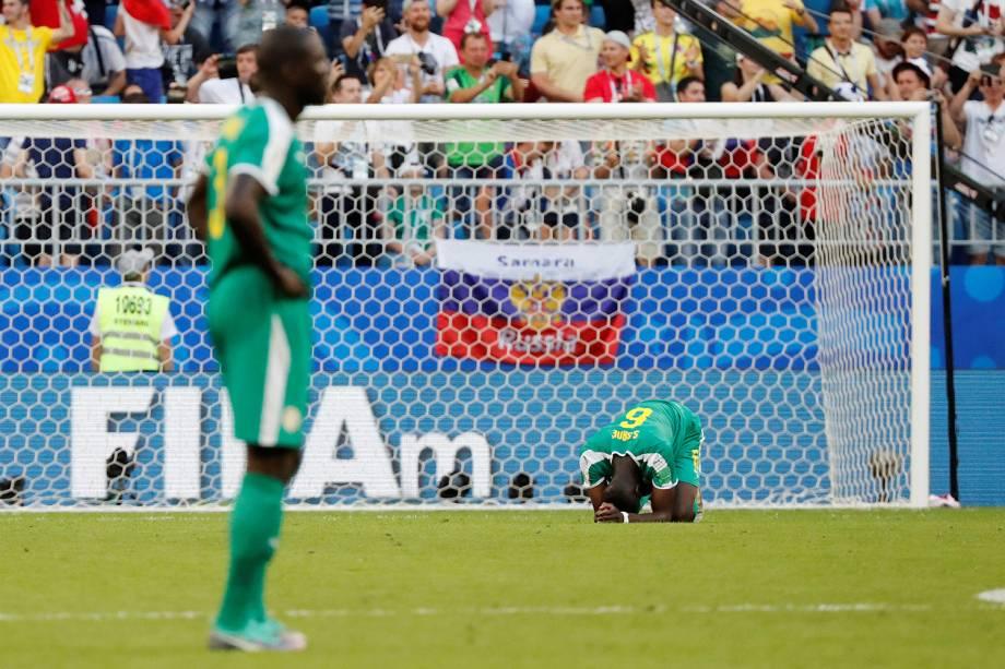 Salif Sane do Senegal reage a derrota após partida contra a Colômbia - 28/06/2018