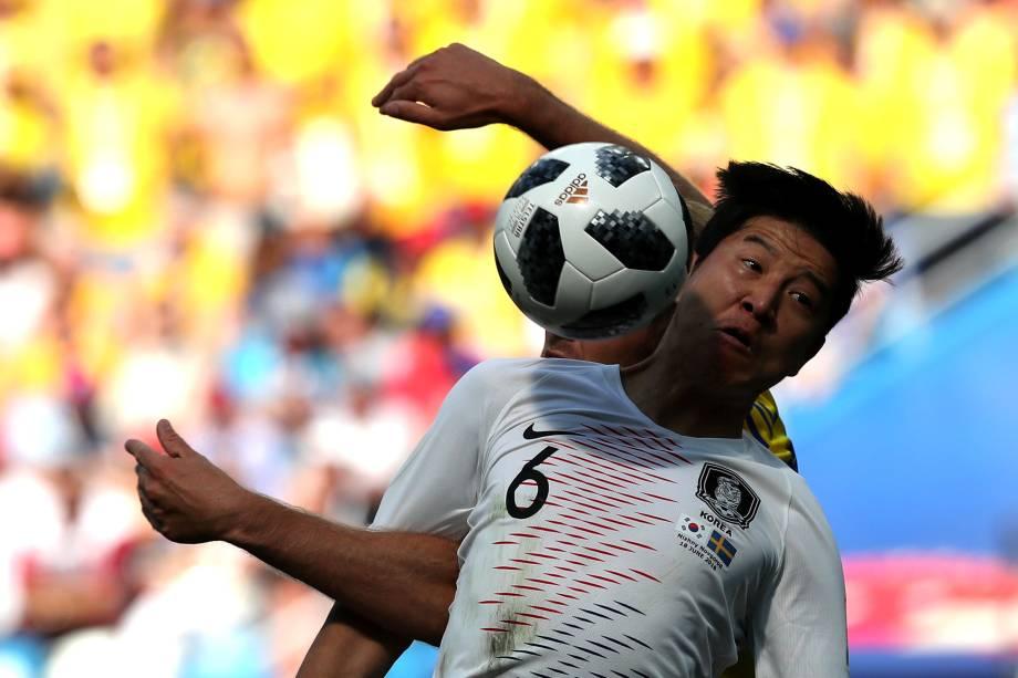 Soccer Football - World Cup - Group F - Sweden vs South Korea - Nizhny Novgorod Stadium, Nizhny Novgorod, Russia - June 18, 2018   South Korea's Park Joo-ho in action        REUTERS/